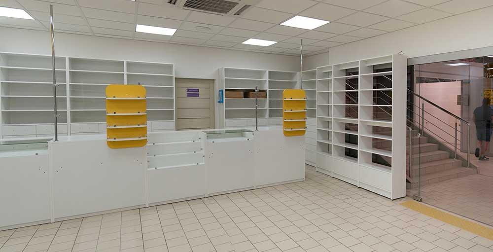 """Изготовление мебели для сети аптек """"Белая Ромашка"""""""